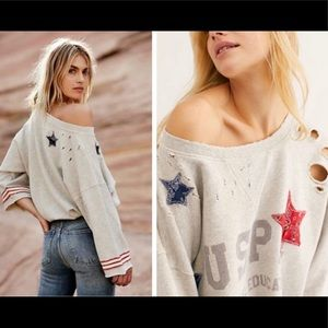 Free People Old Glory Pullover, Size S